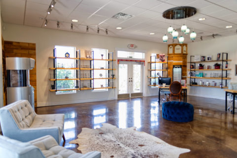 The lobby of First Eye Care Salado